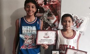 David y Ricardo Castañeda, dos jugadores de la Escuela Felinos que asistieron al gran evento.