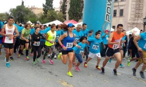 La carrera tuvo buena respuesta de los corredores saltillenses.