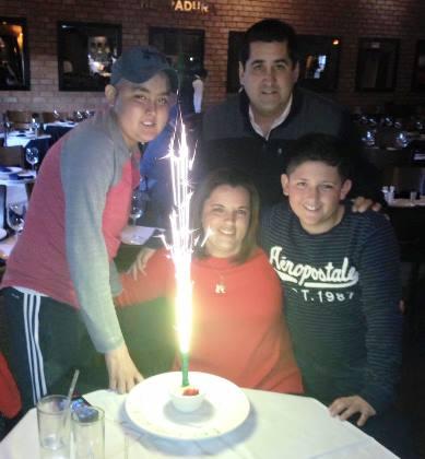 Con su familia, con quien vivió los mejores momentos.