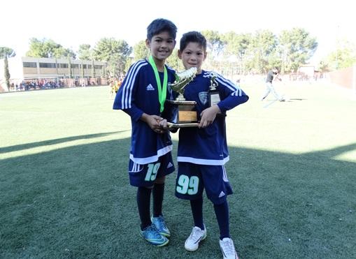 Iván Alberto y Rodrigo Cárdenas Barreda tienen como especialidad el marcar goles, así lo muestran los trofeos que han ganado