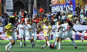 Sofía Alejandra Jiménez García durante la participación que tuvo con Coahuila en el Futbol Bimbo, siendo Campeona Nacional.