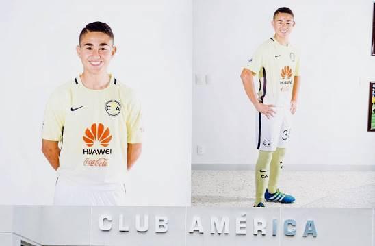 Jorge Isidro Moreno Dávila está viviendo gratas experiencias como jugador Sub 15 de las Aguilas del América.