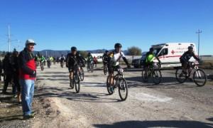 Participantes en la Carrera de Ciclismo de Montaña.