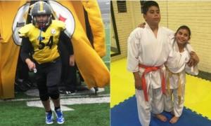 Leonardo Acevedo Moreira, competidor de Karate Do y jugador de futbol americano con el Club Acereros de Saltillo,