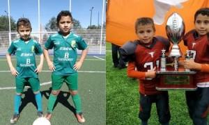 Emmanuel y Emilio de Jesús Vázquez Rodríguez son destacados jugadores de León Saltillo Escuela Filial en la Liga Lasalle.