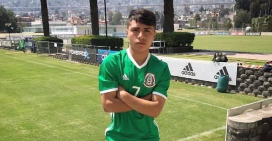 Misael Domínguez se prepara con el Tricolor Sub 20. (Foto faxcebook)