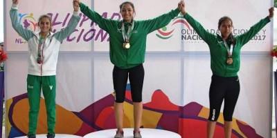 Ana Paula Vázquez lideró logró al equipo coahuilense con 3 medallas de oro.