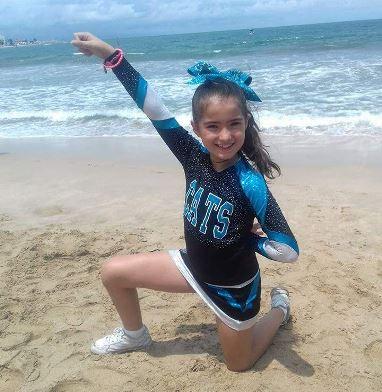 Sofía Lizeth ha tenido la oportunidad la participar en competencias fuera de Saltillo, una de ellas fue en Mazatlán.
