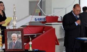 El profe Jaime Duque dirigió un mensaje durante la ceremonia de homenaje al entrenador Javier Ríos Juárez.