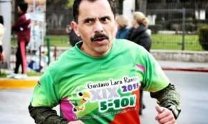 Valentín Olivares durante una de sus participaciones como como corredor.
