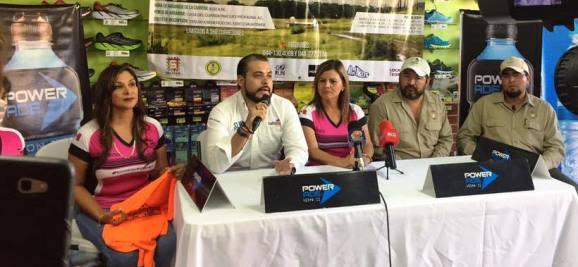 En la presentación de la Trail Running 3 y 10K Cuauhtémoc 2017,