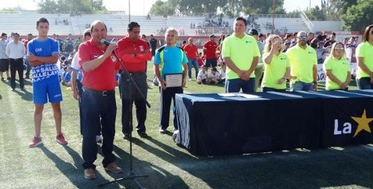 Marco Antonio Dávila de León, director de la Academia Chivas Rancho Seco, realizó la declaratoria inaugural