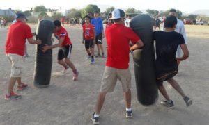 Los jugadores fueron evaluados por los coaches en distintos ejercicios.