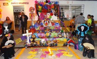 El Altar de Muertos en honor al Coach Jorge Castro fue el ganador del Concurso.