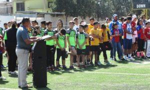 El presidente de la AFAIS, Luis Suárez dirigió el mensaje de inauguración.