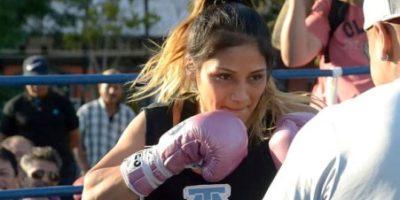 """Lourdes """"La Pequeña Lulú"""" Juárez participó en el entrenamiento público."""