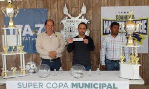 Los 16 equipos finalistas de la Súper Copa Municipal de Futbol 7 fueron sorteados.