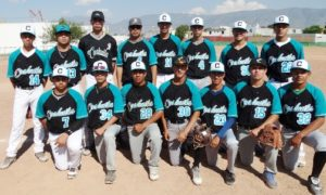 Grupo de jugadores saltillenses que integran el Seleccionado de Coahuila de Beisbol, quienes van por todo a la Olimpiada Nacional.