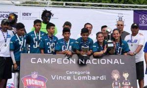Los Michaels de Coahuila se quedaron con el trofeo Vince Lombardi en Mérida. Yucatán.