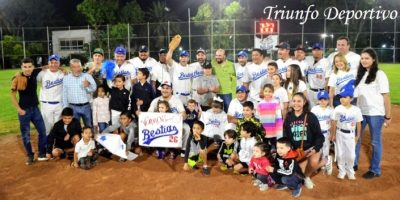 Bestias, Campeones del Softbol Del Deportivo San Isidro.
