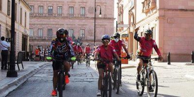 Ciclismo rodada con causa
